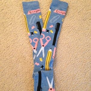 🌙 🐱School Supplies Socks